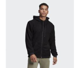 adidas Brilliant Basics Sherpa Full-Zip Hoodie Siyah GD3835